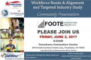 Workforce and Industry Study Community Presentation @ Texarkana Convention Center